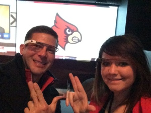 My boss & I rocking Glass before the start of the UL/UK Sweet 16 game in Indy.